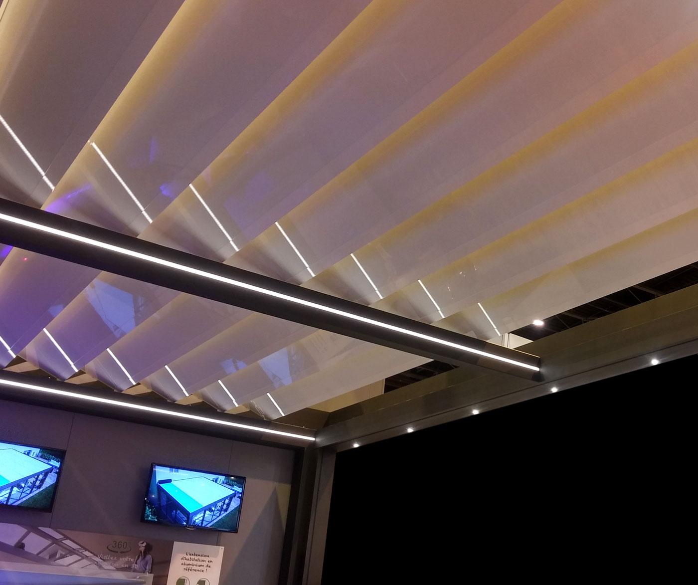 Illuminazione integrata pergola biotermica A301 Open Adarte Outdoor Format