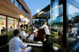 Ice-cream shop realization Torino Adarte Outdoor Format
